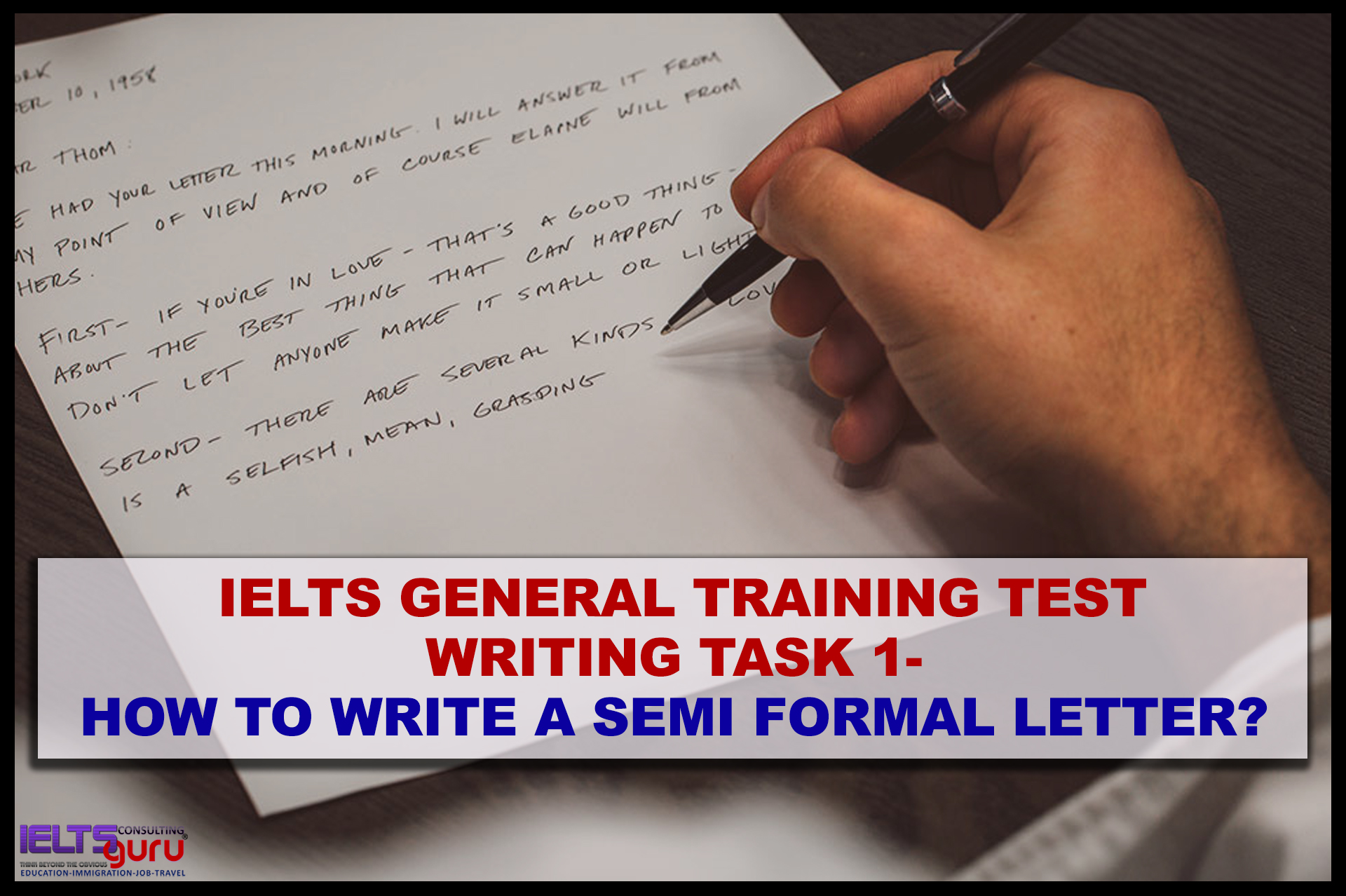 Write A Formal Letter from www.ieltsguru.com